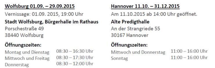 Zeit zum ErinnernAusstellung_Corinna_Luedtke_Öffnungszeiten_Hannover_Wolfsburg_2015